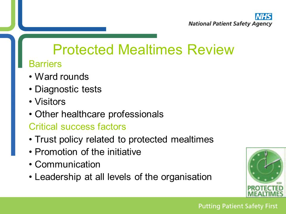 Protected Mealtimes Review