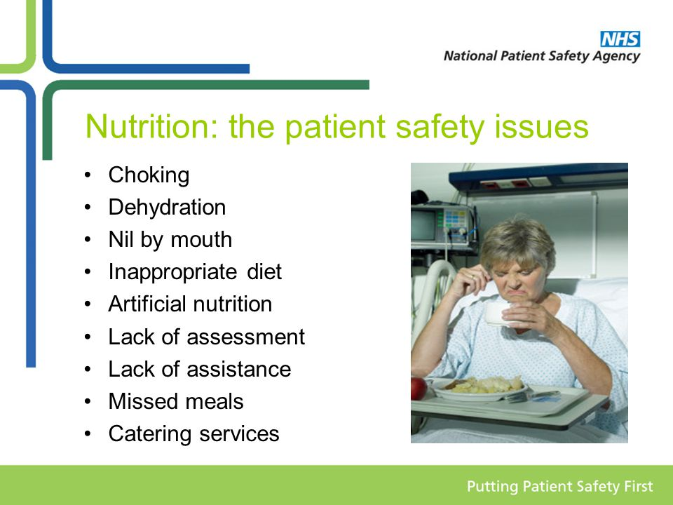 Nutrition: the patient safety issues