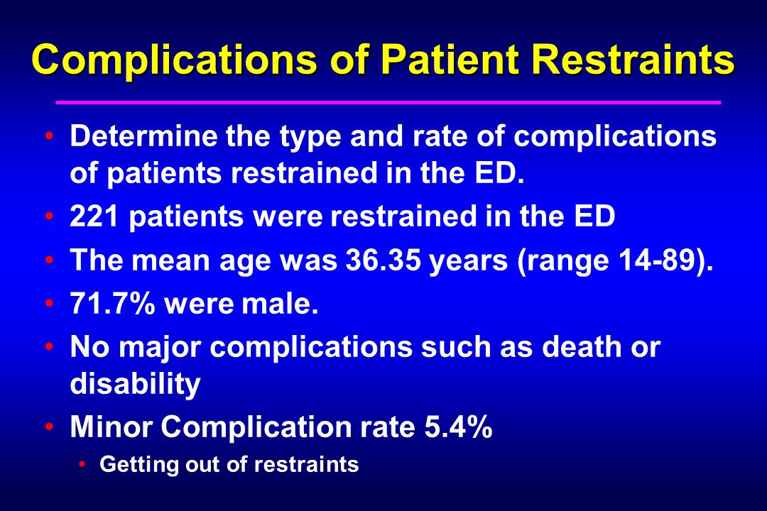 Complications of Patient Restraints