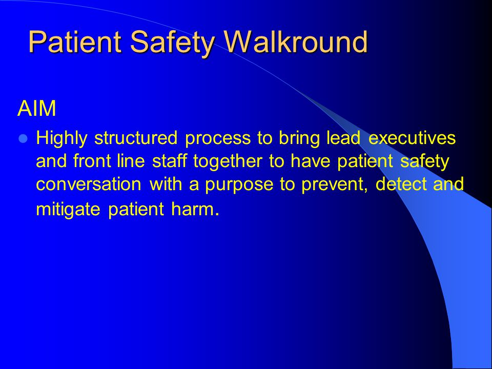 Patient Safety Walkround