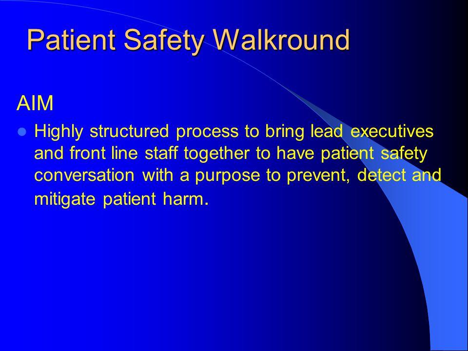 Patient Safety Walkround