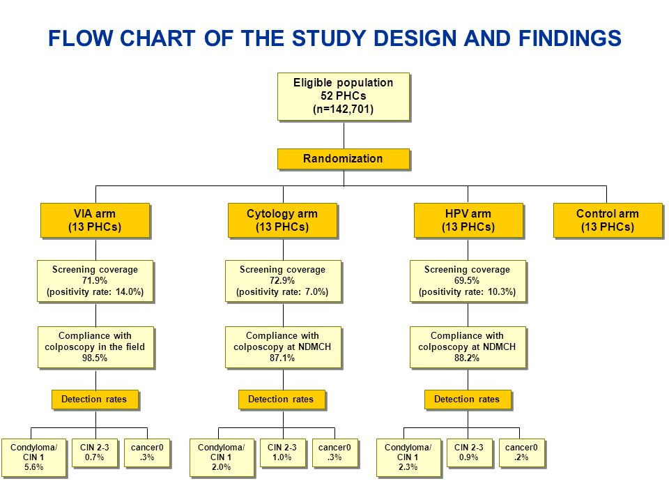 FLOW CHART OF THE STUDY DESIGN AND FINDINGS
