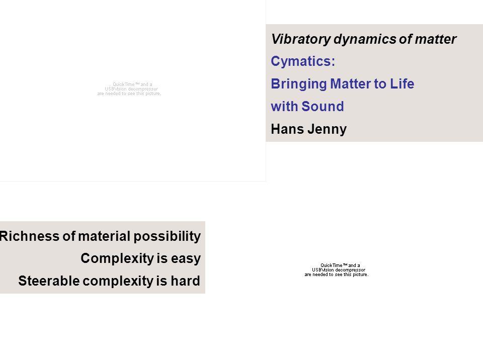 Vibratory dynamics of matter