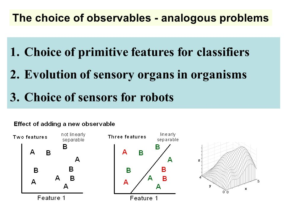Choice of primitive features for classifiers