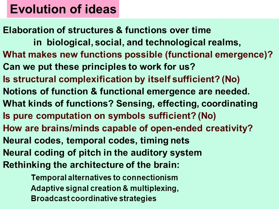 Evolution of ideas