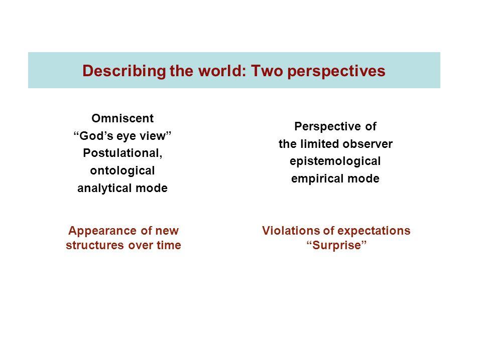 Describing the world: Two perspectives