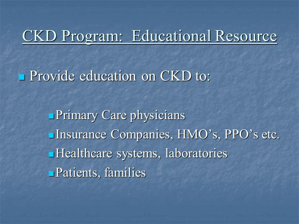 CKD Program: Educational Resource
