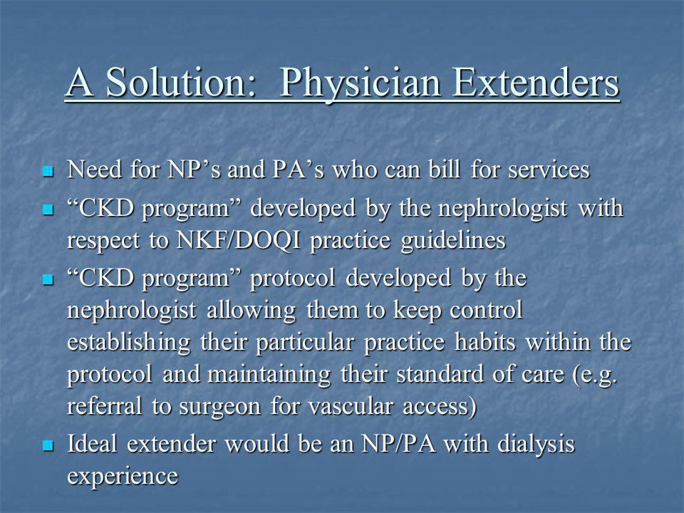 A Solution: Physician Extenders