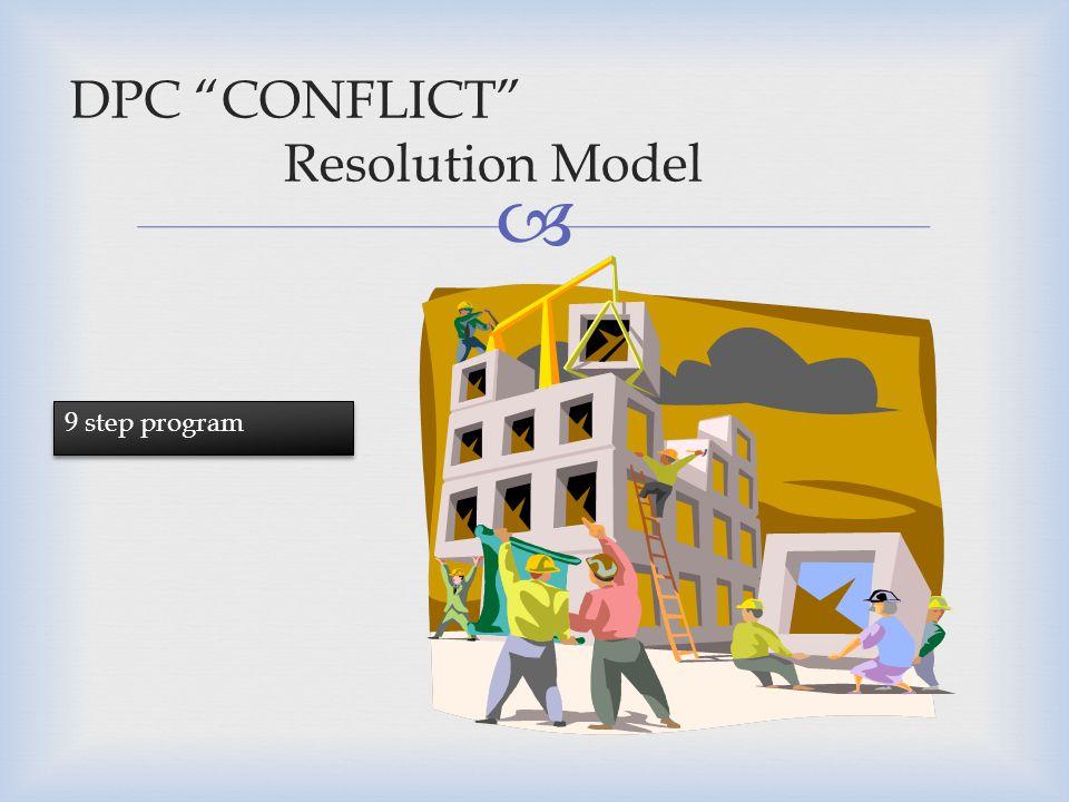 DPC CONFLICT Resolution Model