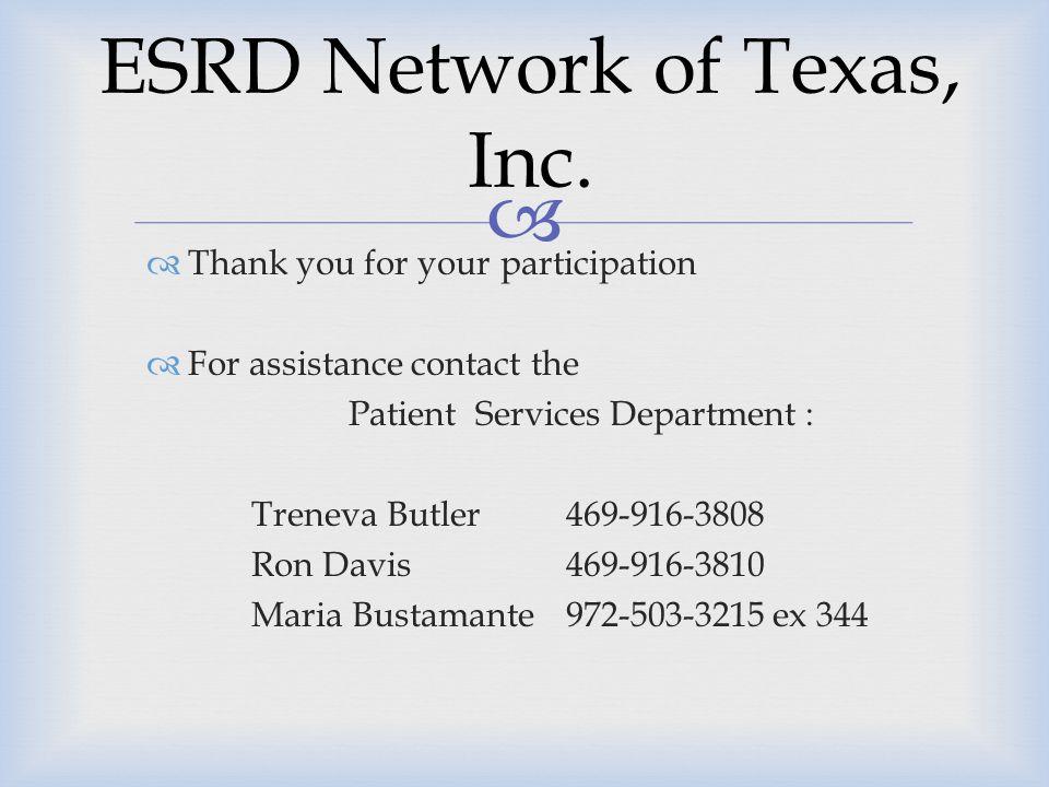 ESRD Network of Texas, Inc.
