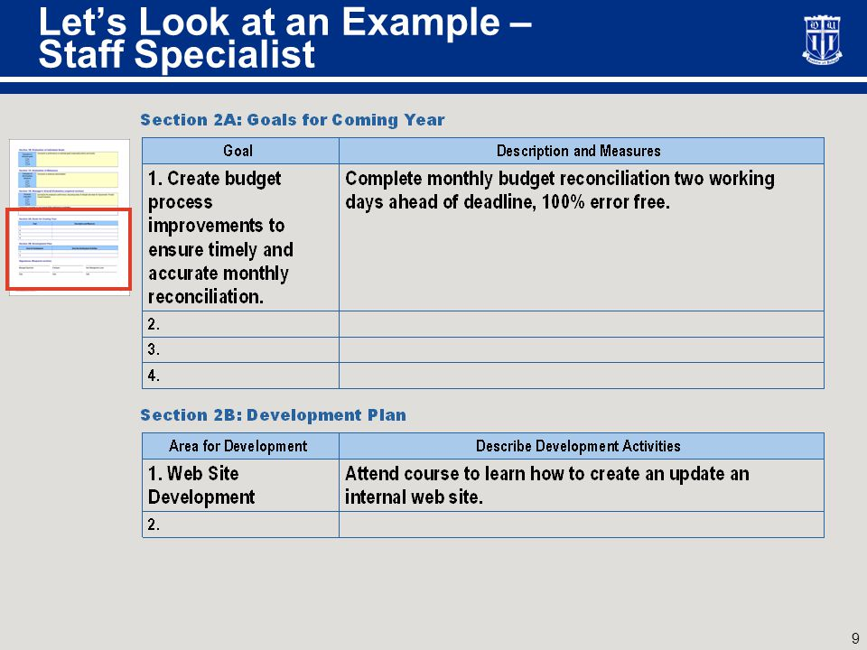 One More Example – Financial Management Analyst