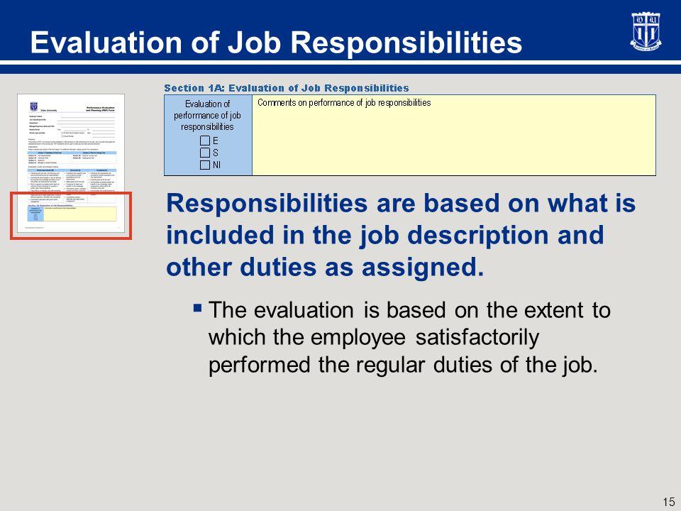 Evaluation of Individual Goals
