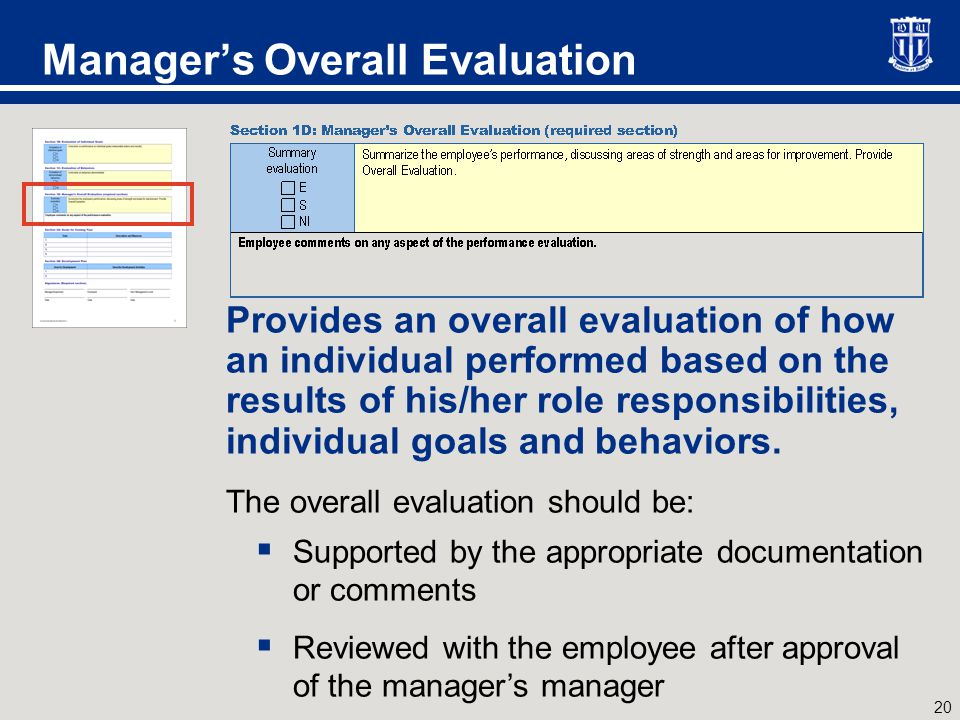Self-Assessment Required for all managers