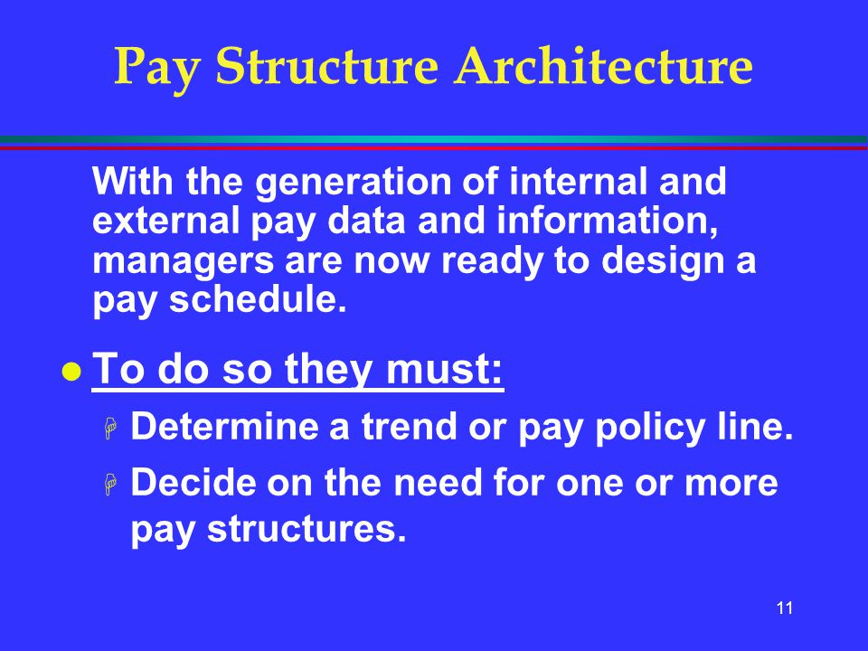 Pay Structure Architecture