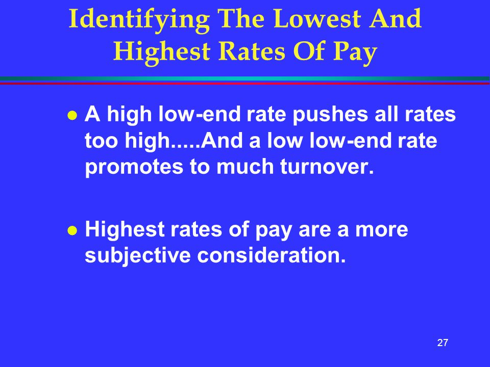 Identifying The Lowest And Highest Rates Of Pay