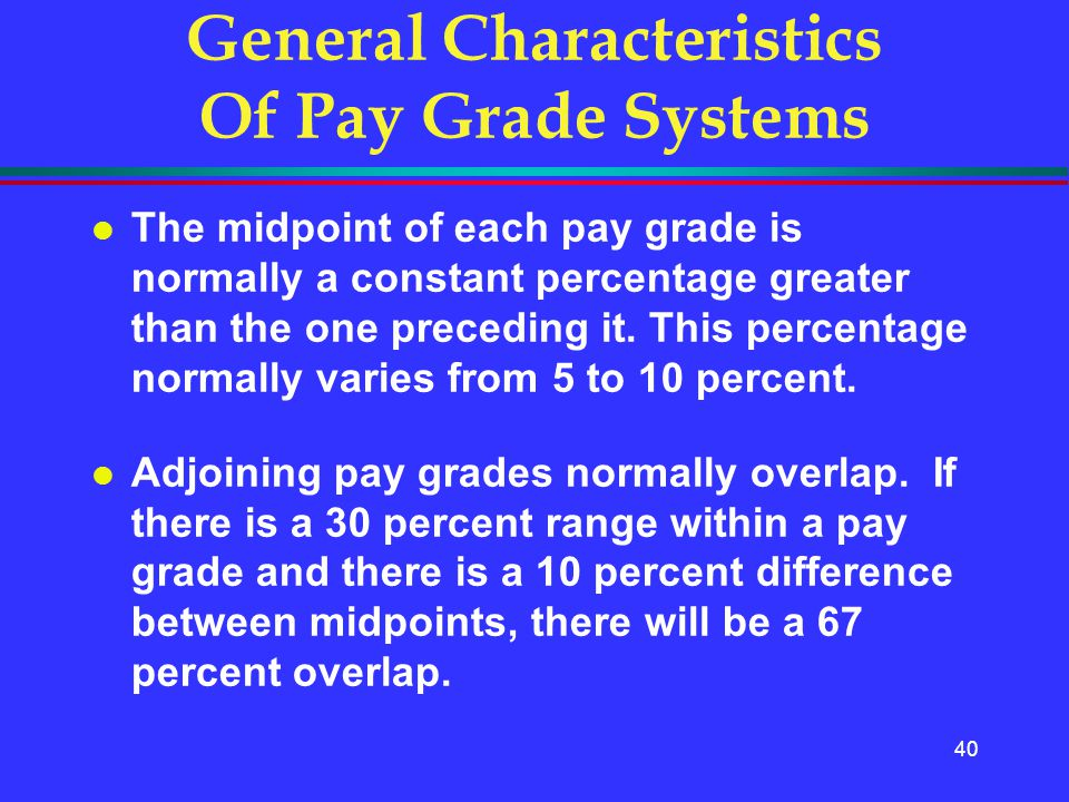 General Characteristics Of Pay Grade Systems