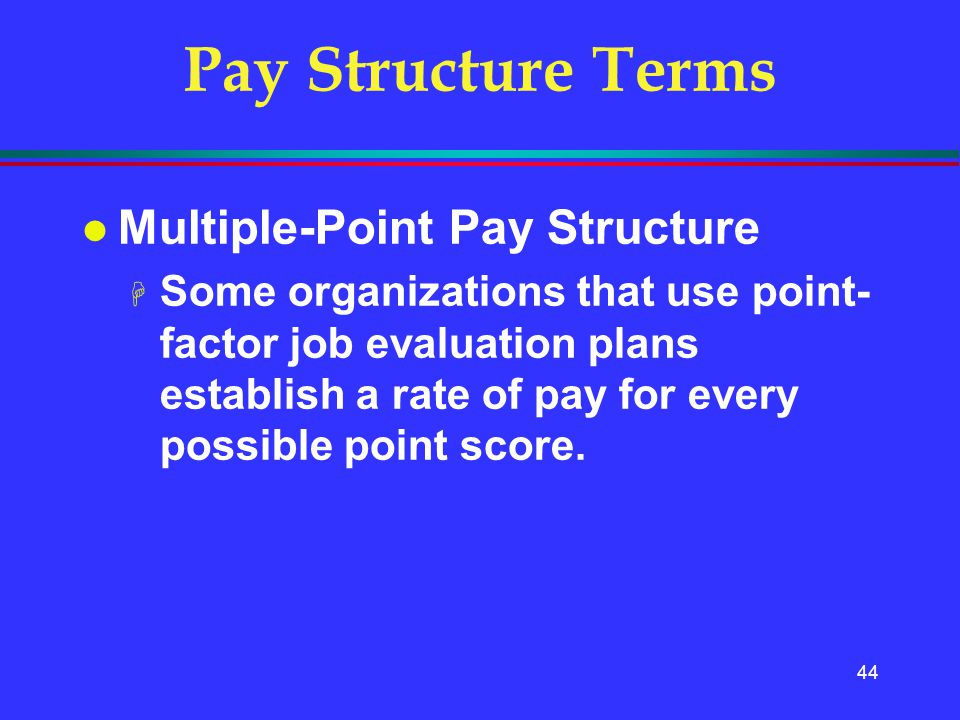 Pay Structure Terms Multiple-Point Pay Structure