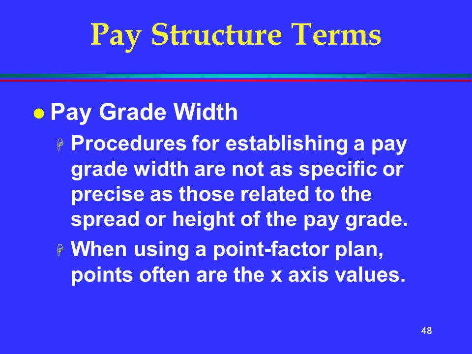 Pay Structure Terms Pay Grade Width