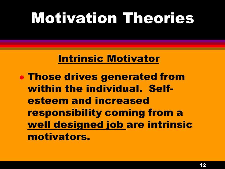 Motivation Theories Intrinsic Motivator