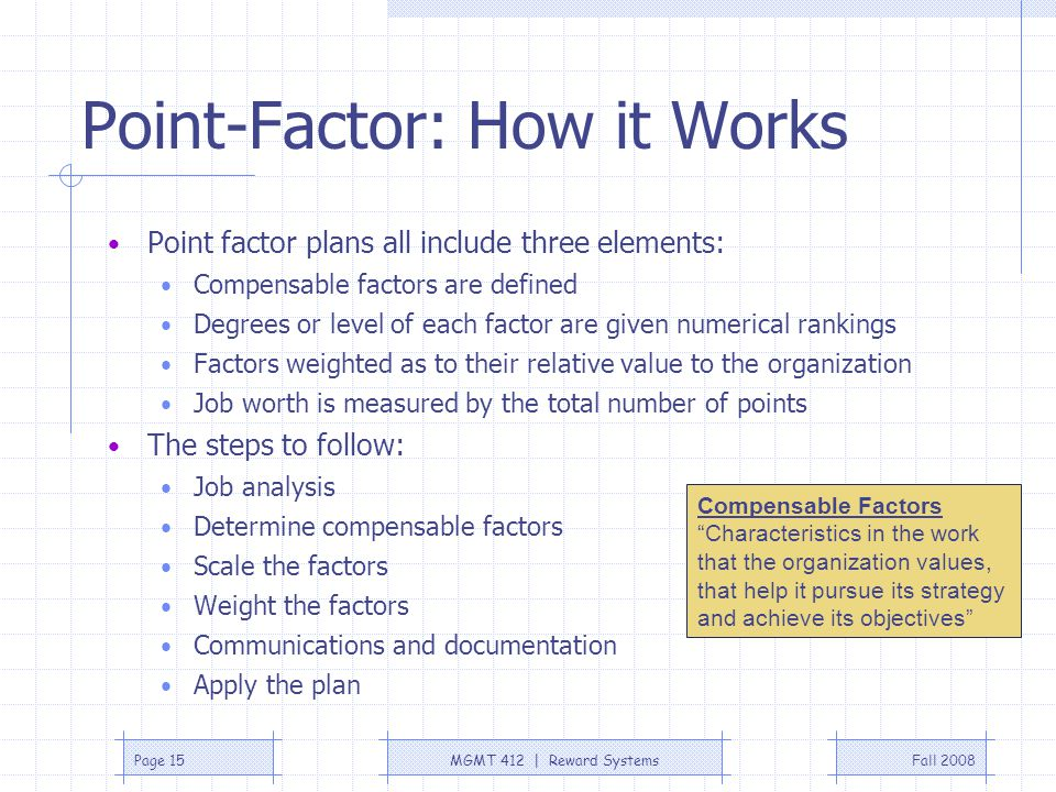 Point-Factor: How it Works
