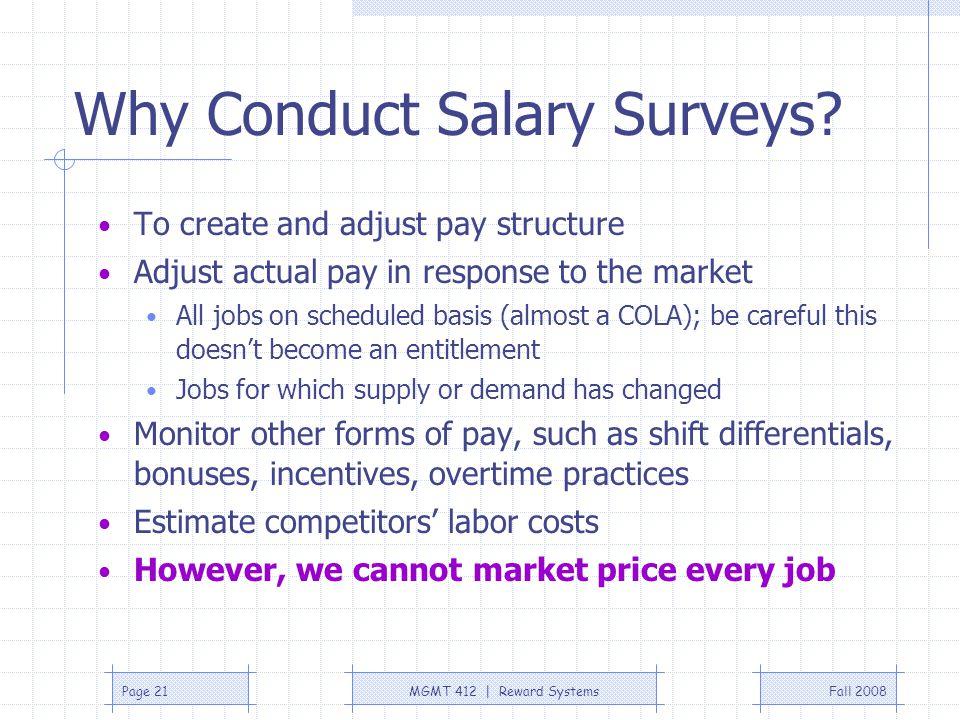 Why Conduct Salary Surveys