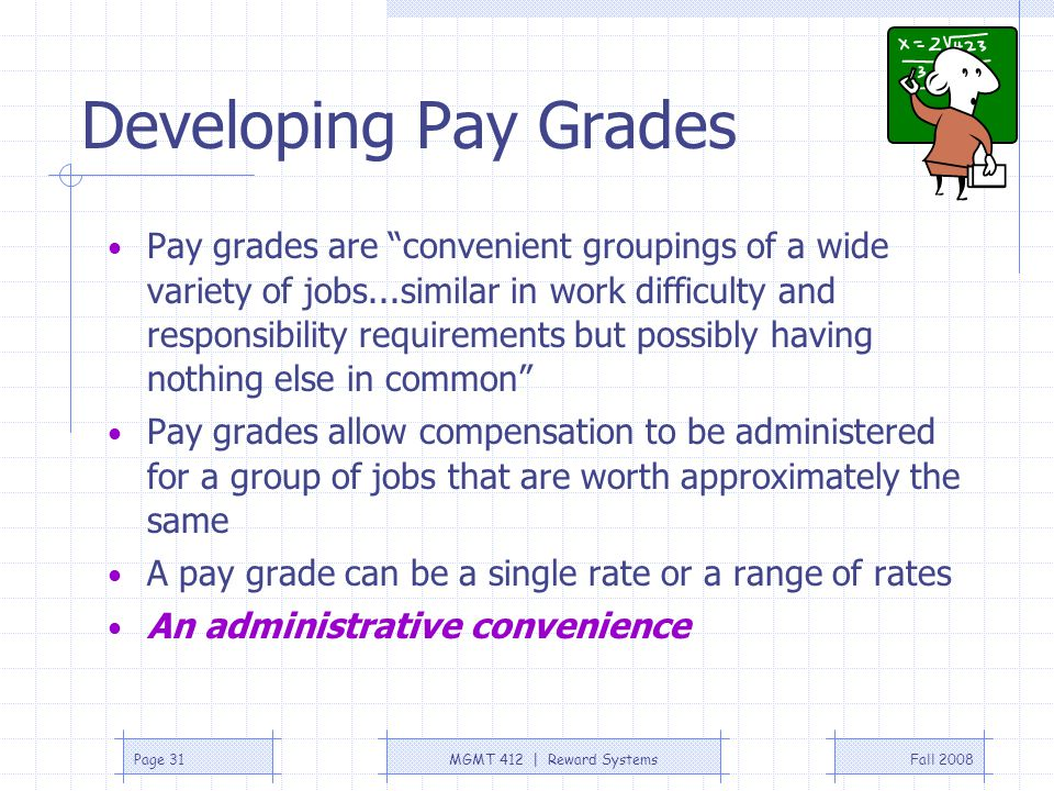 Developing Pay Grades