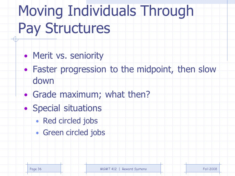 Moving Individuals Through Pay Structures