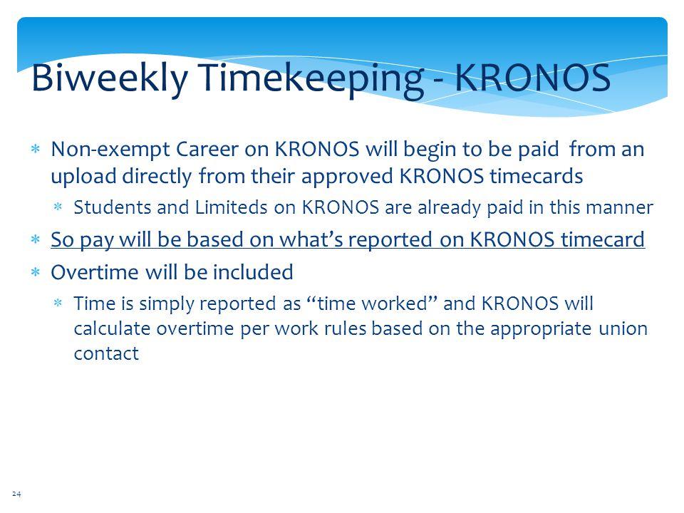 Biweekly Timekeeping - KRONOS