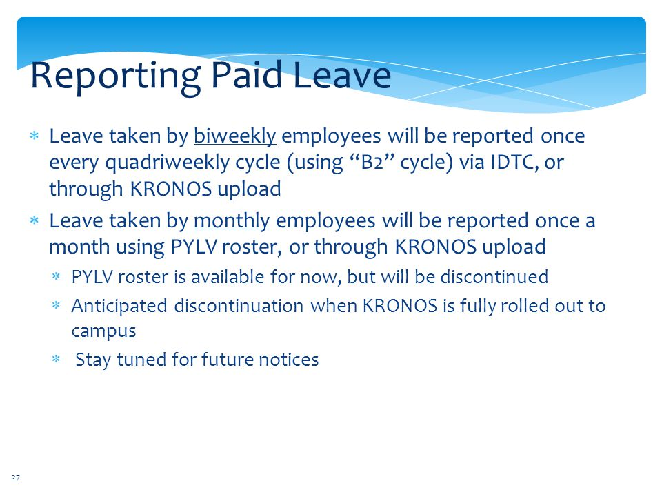 Reporting Paid Leave