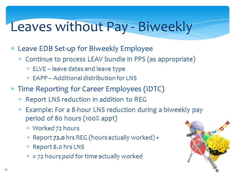 Leaves without Pay - Biweekly