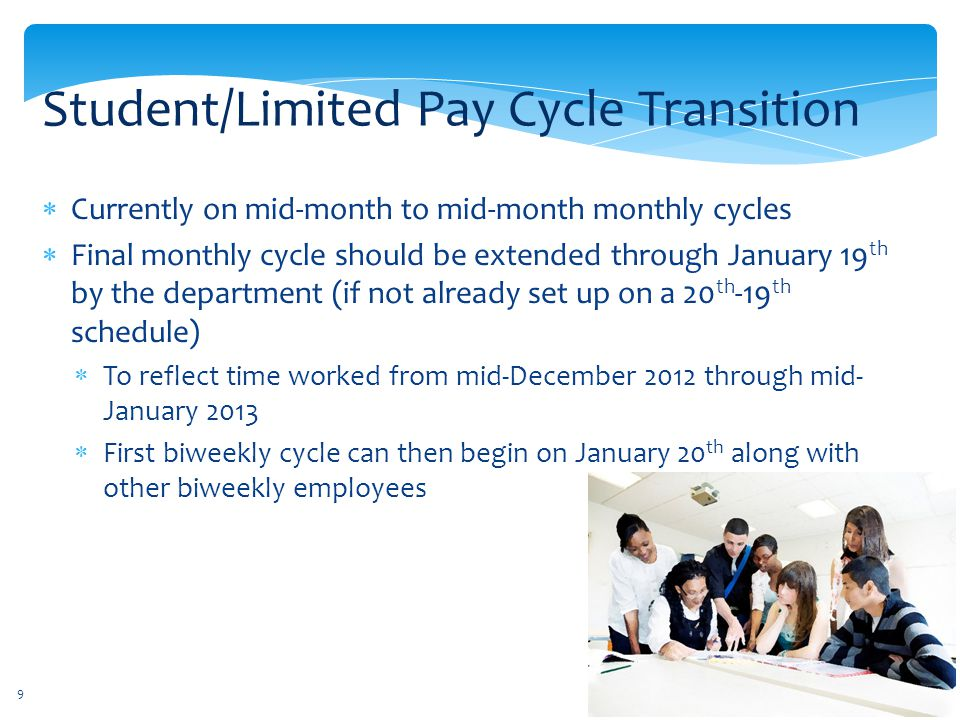 Student/Limited Pay Cycle Transition