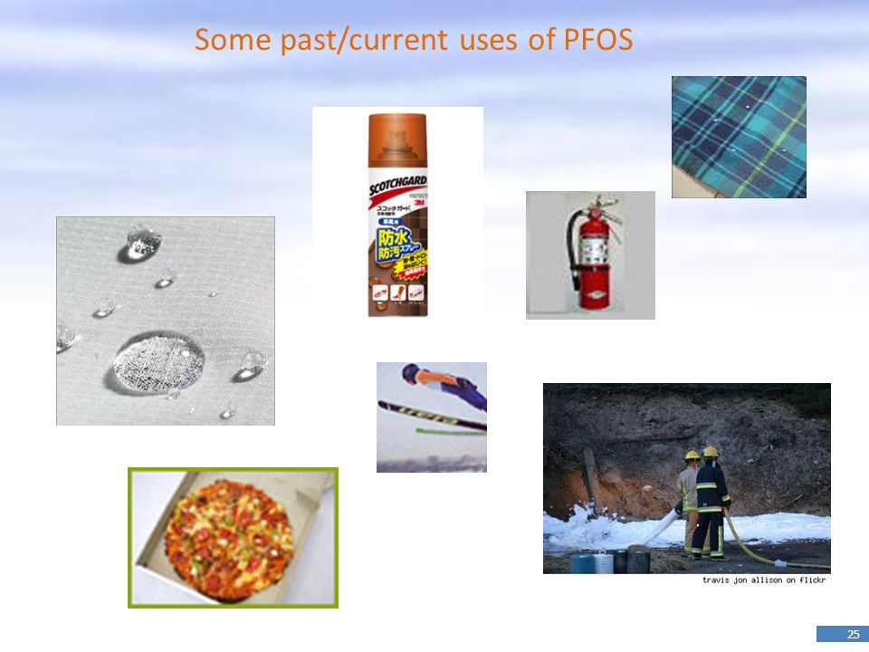 Some past/current uses of PFOS
