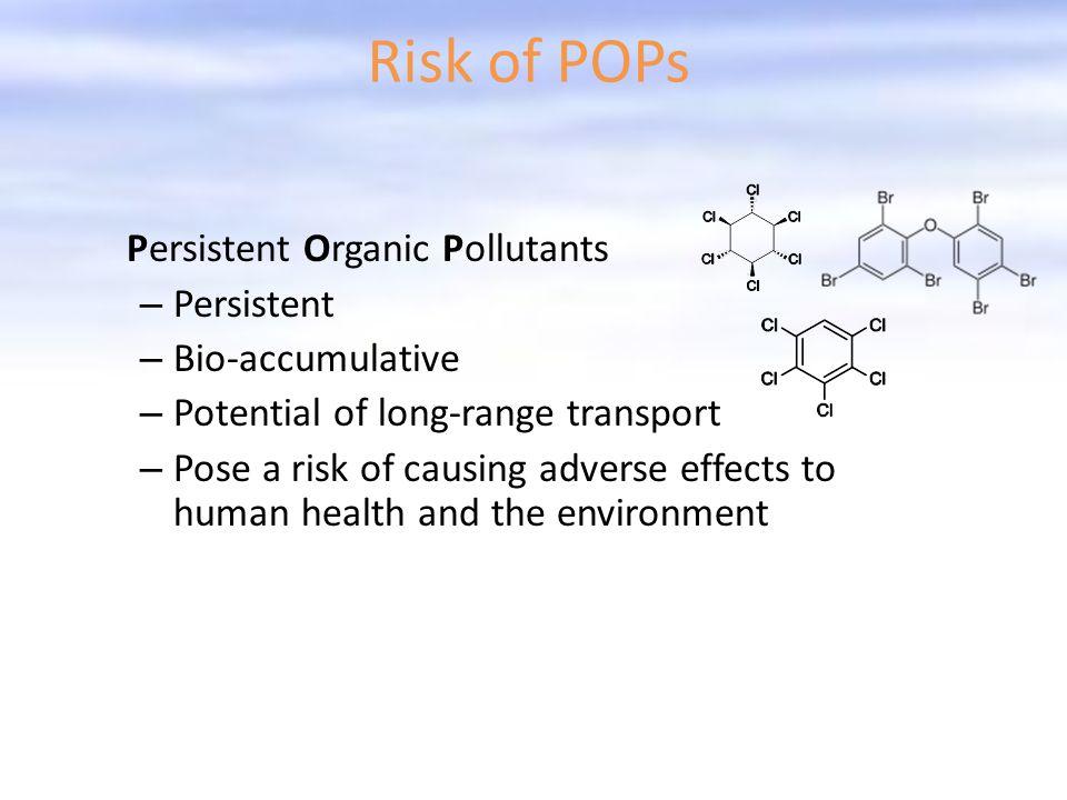 Risk of POPs Persistent Bio-accumulative