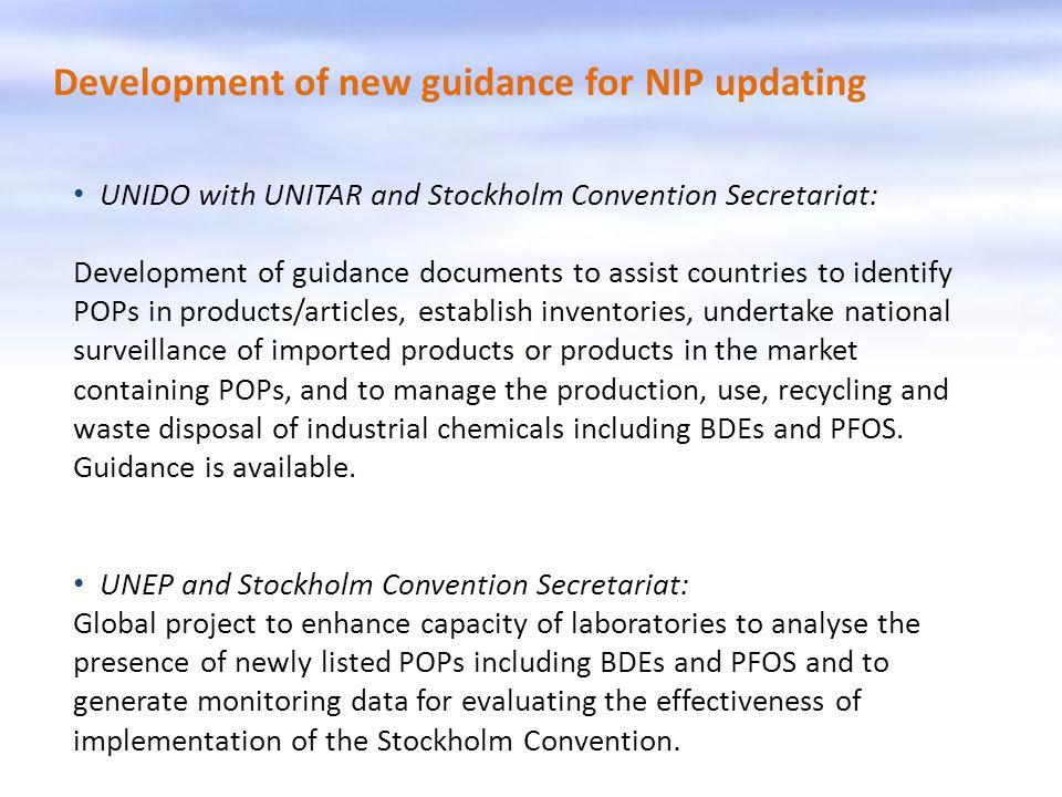 Development of new guidance for NIP updating