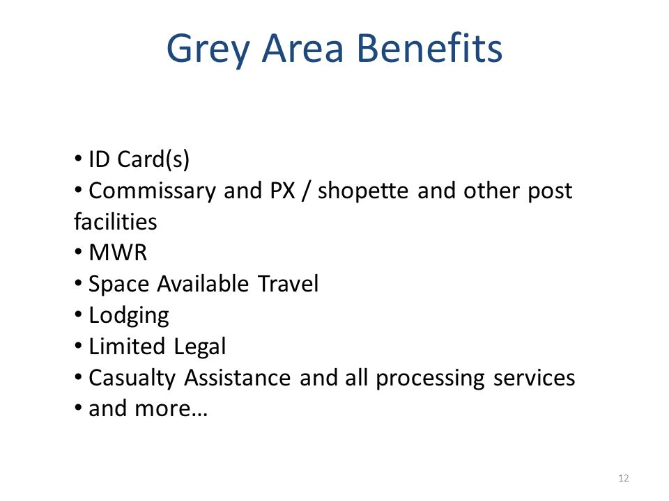 Grey Area Benefits ID Card(s)