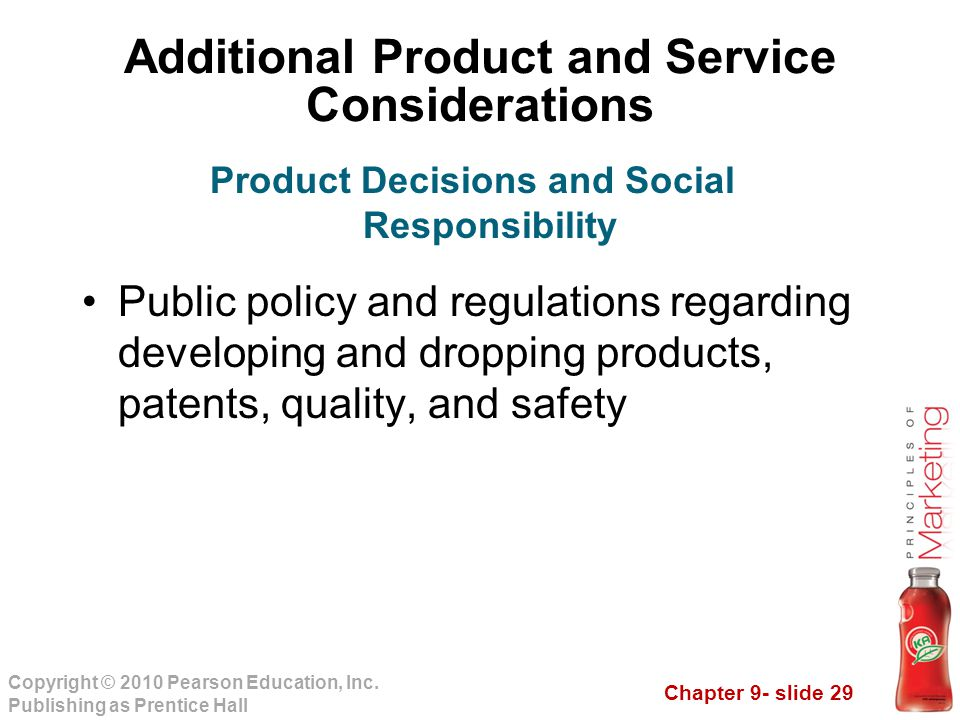 Additional Product and Service Considerations