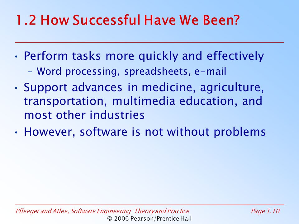 1.2 How Successful Have We Been