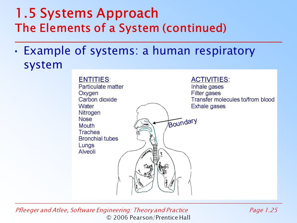1.5 Systems Approach The Elements of a System (continued)