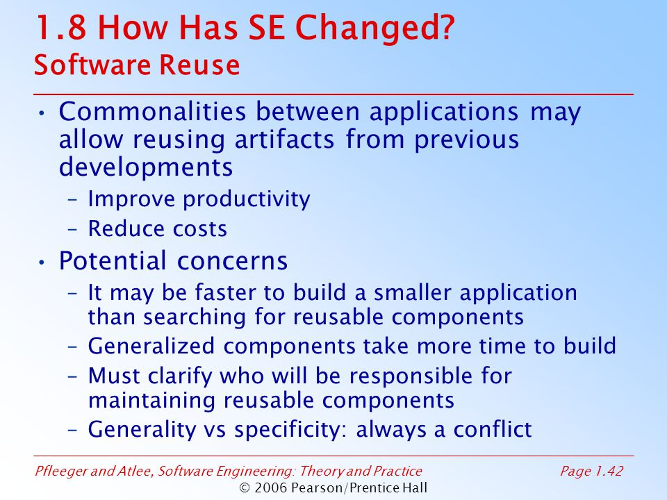 1.8 How Has SE Changed Software Reuse