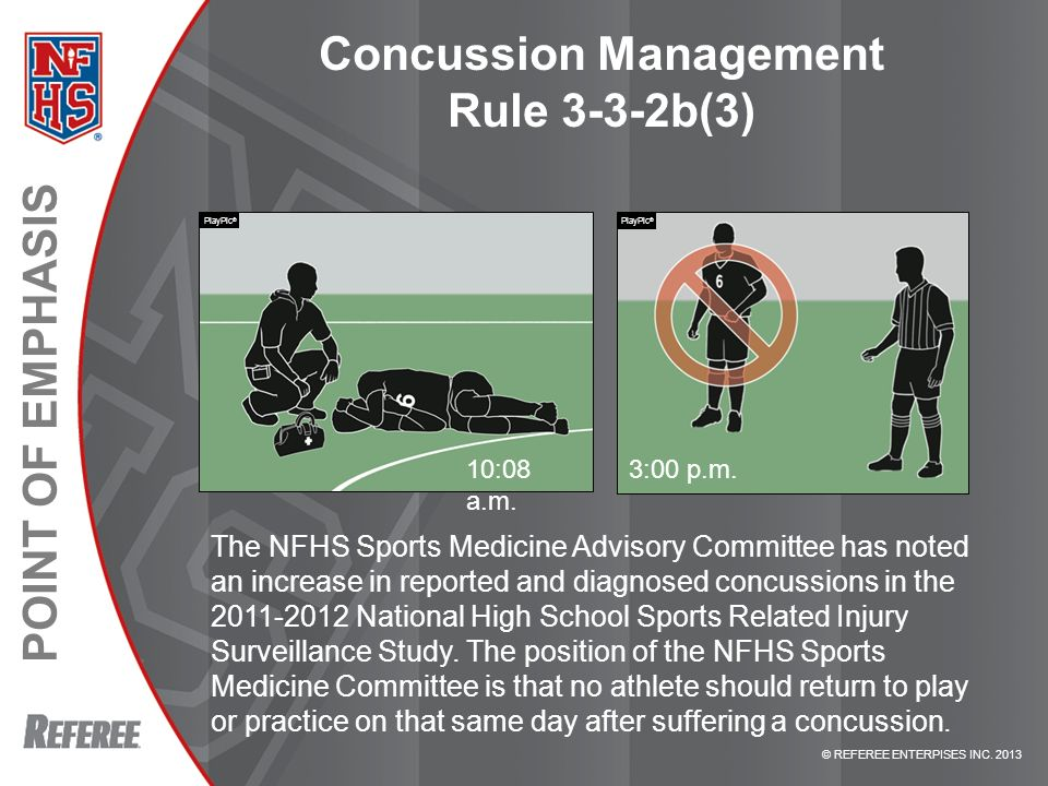 Concussion Management Rule 3-3-2b(3)