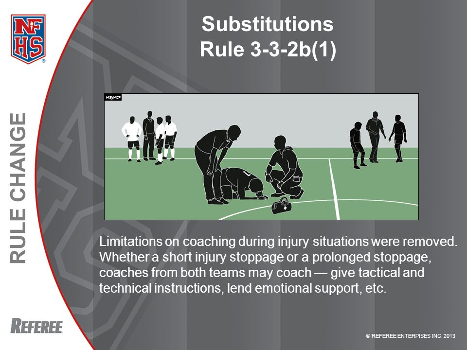 Substitutions Rule 3-3-2b(1)