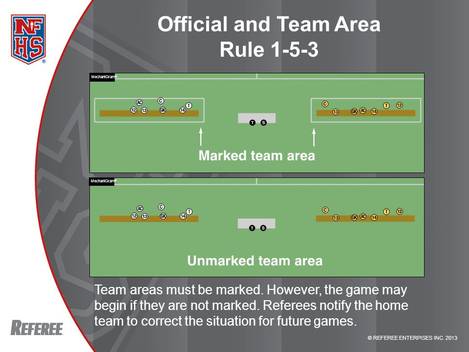 Official and Team Area Rule 1-5-3