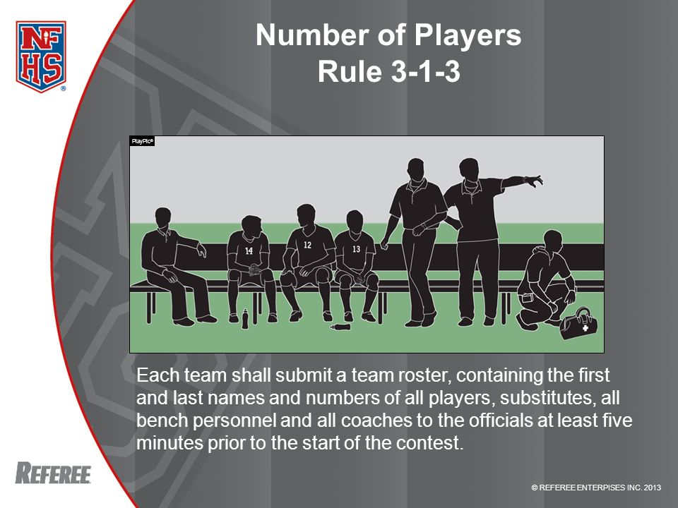 Number of Players Rule 3-1-3