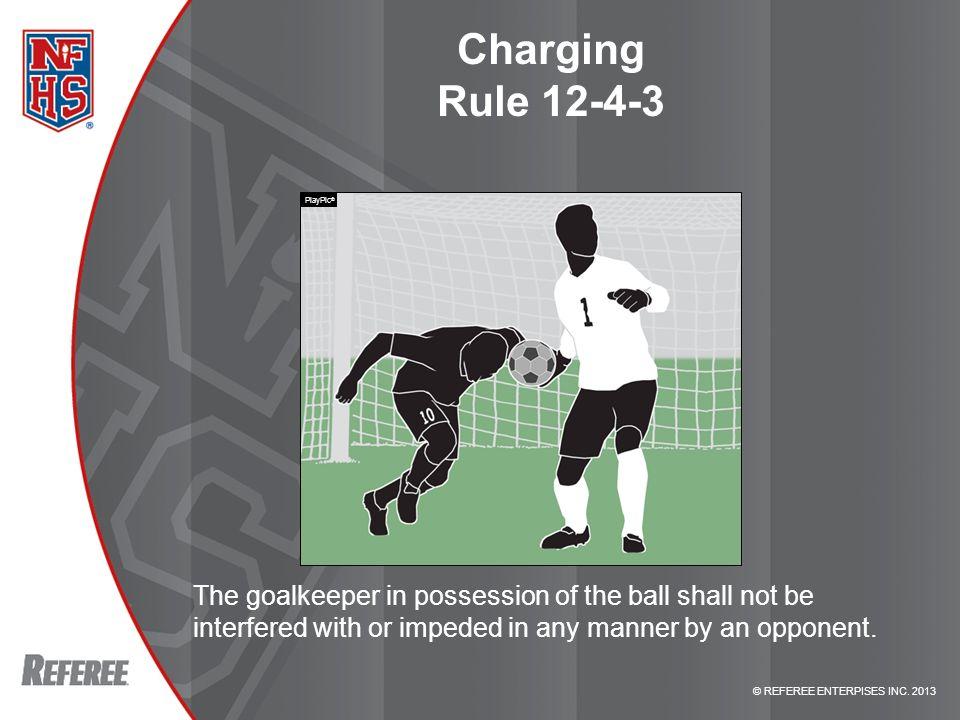 Charging Rule 12-4-3 PlayPic® RULE 12-4-3 – CHARGING.