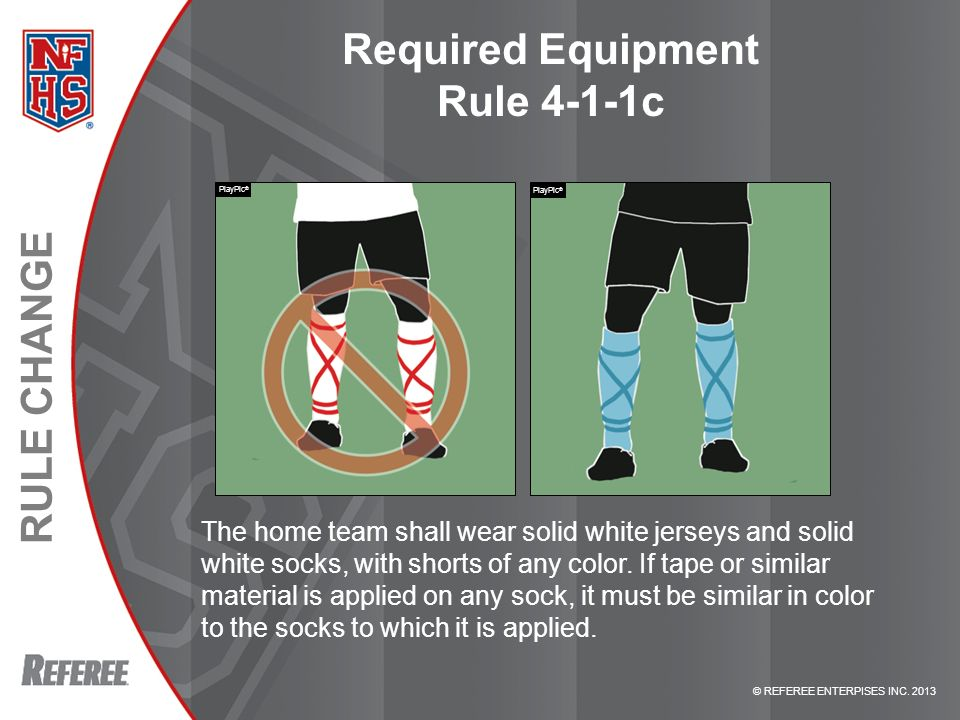 Required Equipment Rule 4-1-1c