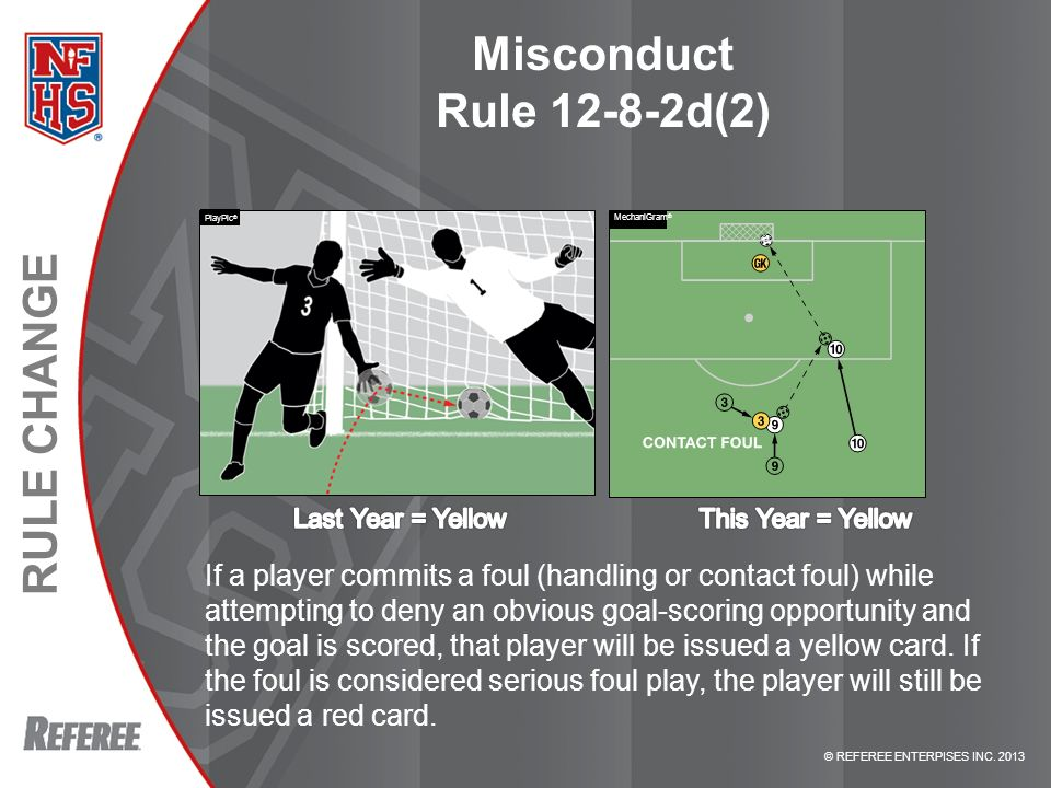 Misconduct Rule d(2) PlayPic® MechaniGram® RULE d(2) – MISCONDUCT.