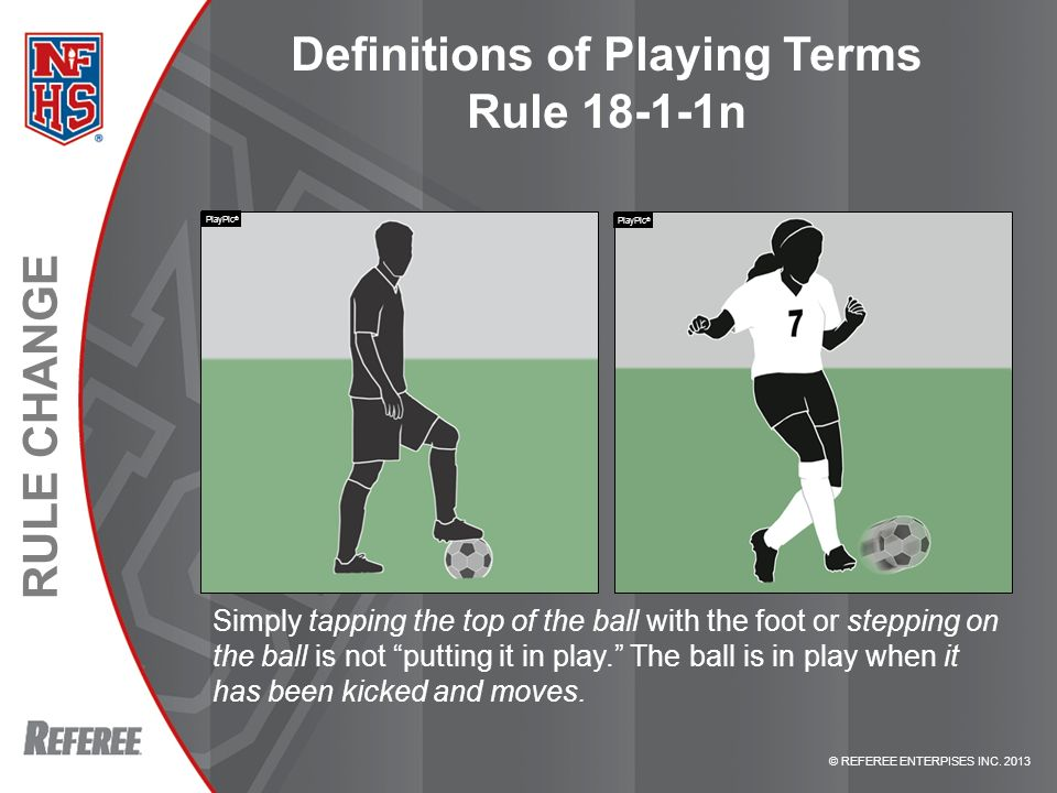 Definitions of Playing Terms Rule 18-1-1n