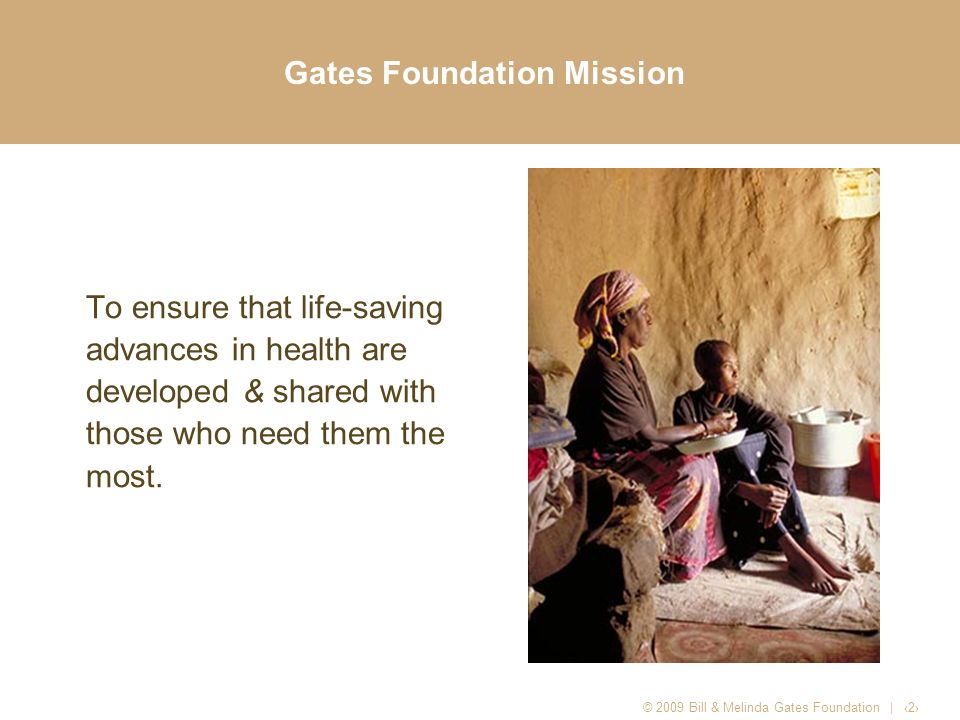 Gates Foundation Mission