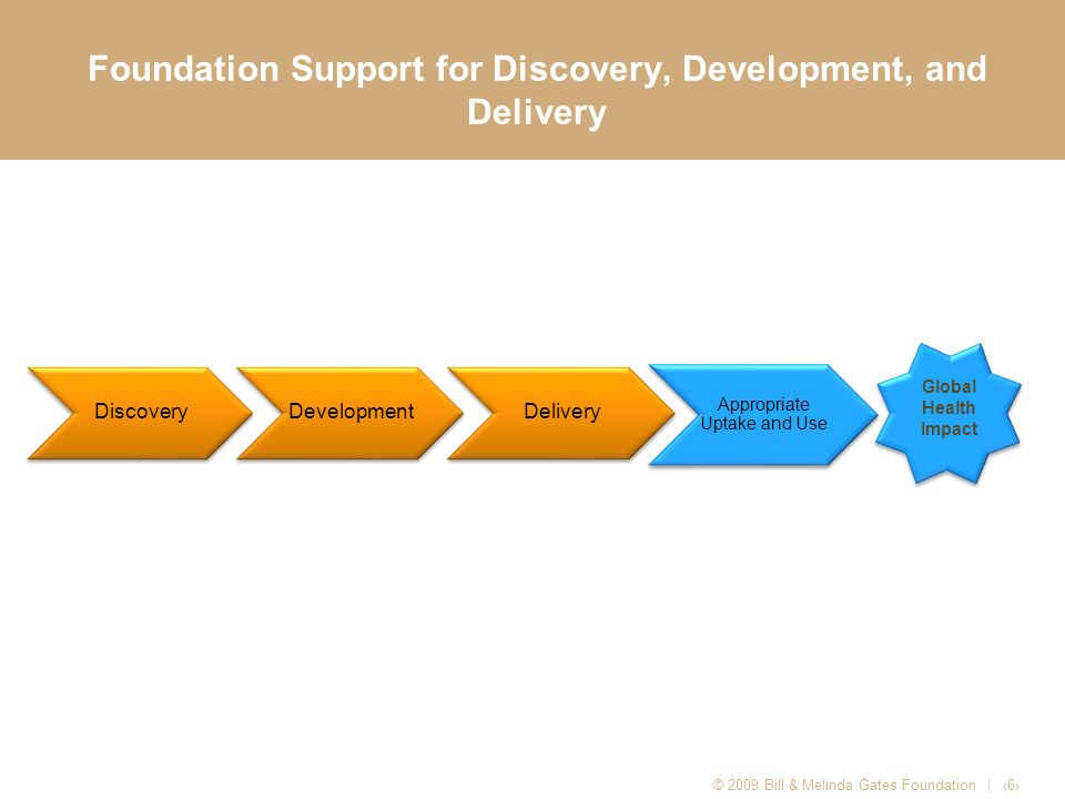 Foundation Support for Discovery, Development, and Delivery