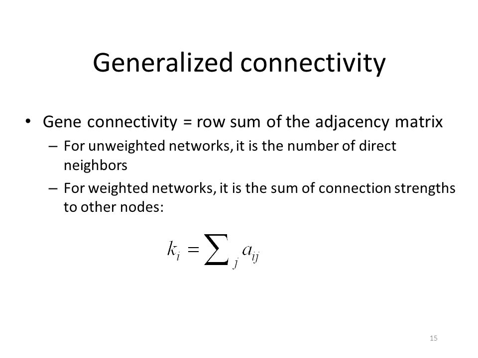 Generalized connectivity